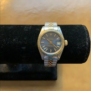 Pre-owned Rolex Stainless Steel and 18k 26 mm